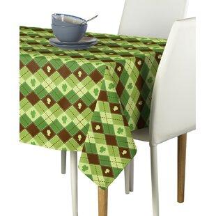 Essex Street Lucky Shamrock Argyle Milliken Signature Tablecloth