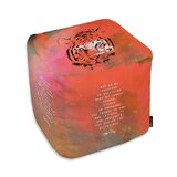Akers Tiger Cube Ottoman by Ebern Designs