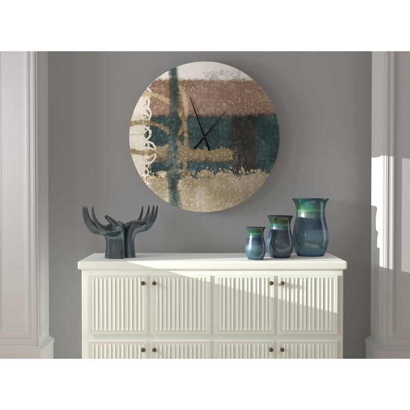 Latitude Run Epicurean Ecumenical Abstract Metal Wall Clock Wayfair