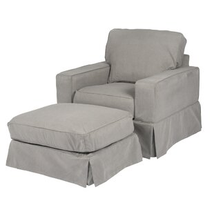 Elsberry Armchair and Ottoman by Darby Home Co