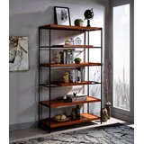 Johnsie 70 H x 70 W Steel Etagere Bookcase by 17 Stories