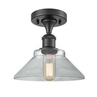 Nyle 1-Light Semi Flush Mount by Gracie Oaks