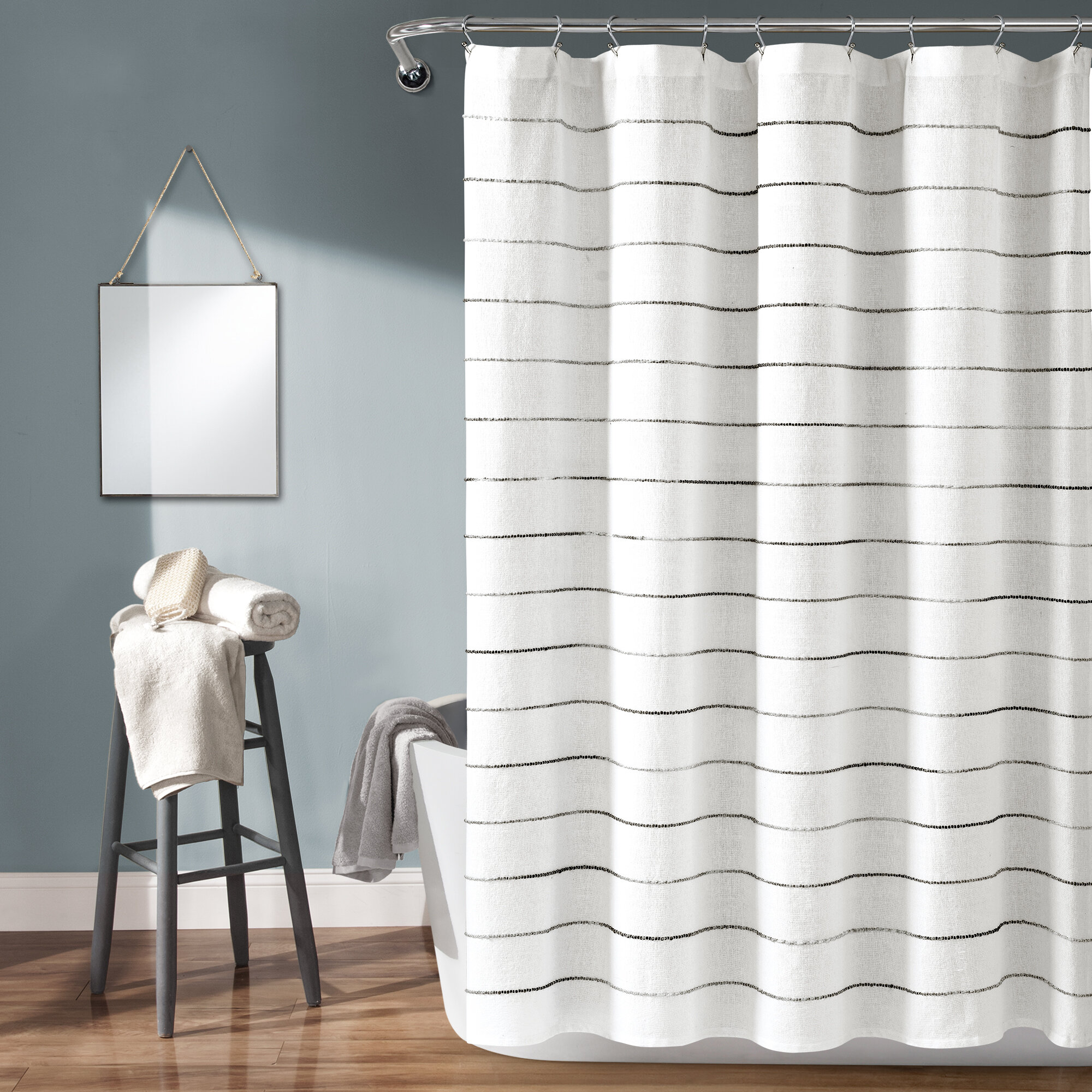 Gray Silver Pink Shower Curtains