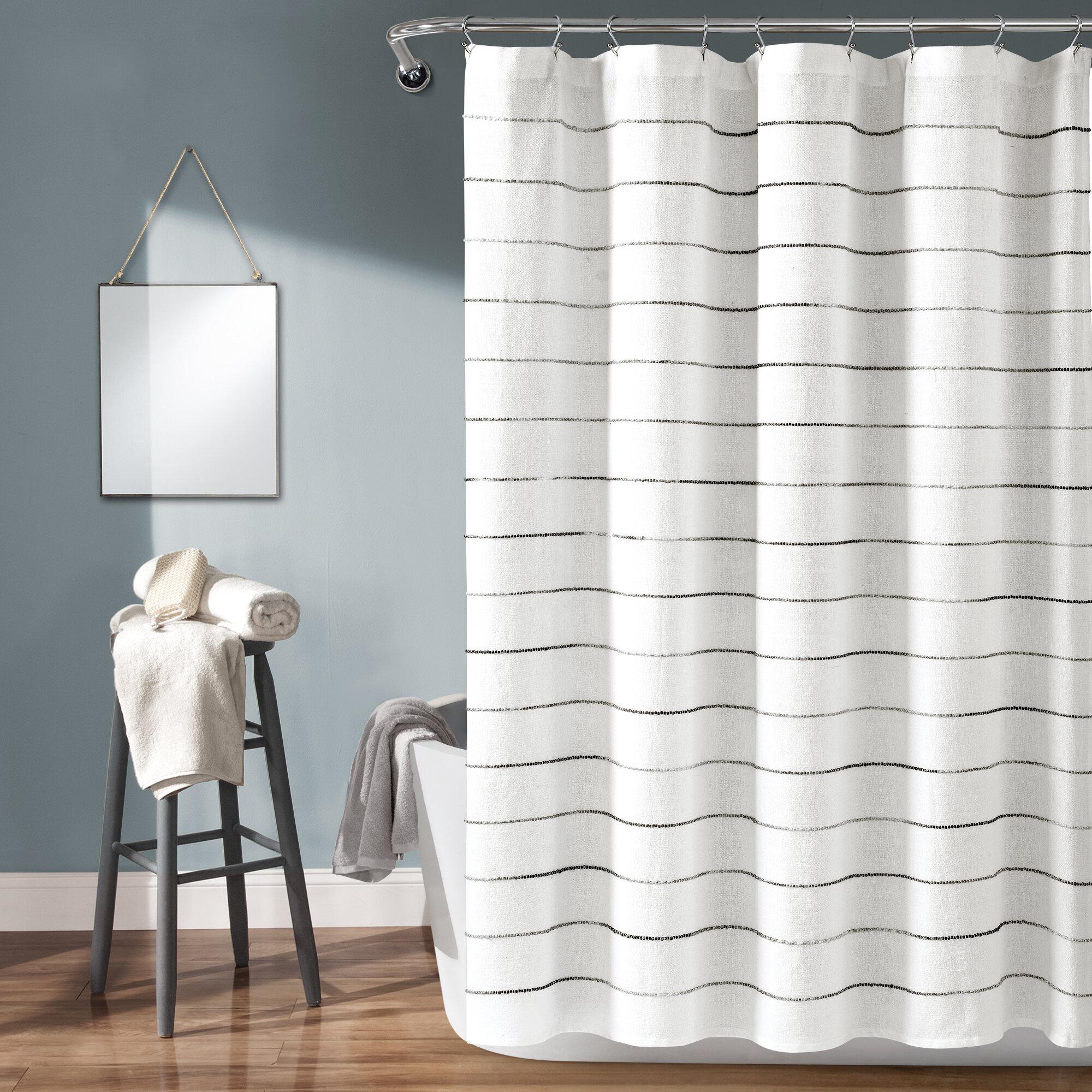 Gutman Stripe Yarn Dyed Shower Curtain Single