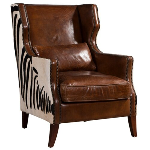 Zachery Wingback Chair Williston Forge Upholstery Colour: Ta