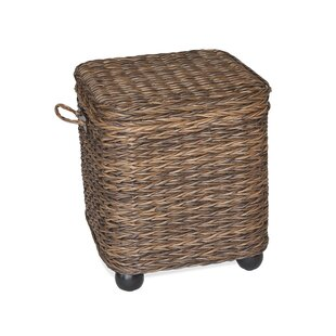 Flemming Storage Wicker Side Table