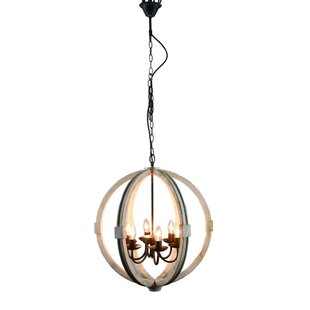 Barbazan Elegantly Candle Style 6-Light Globe Chandelier