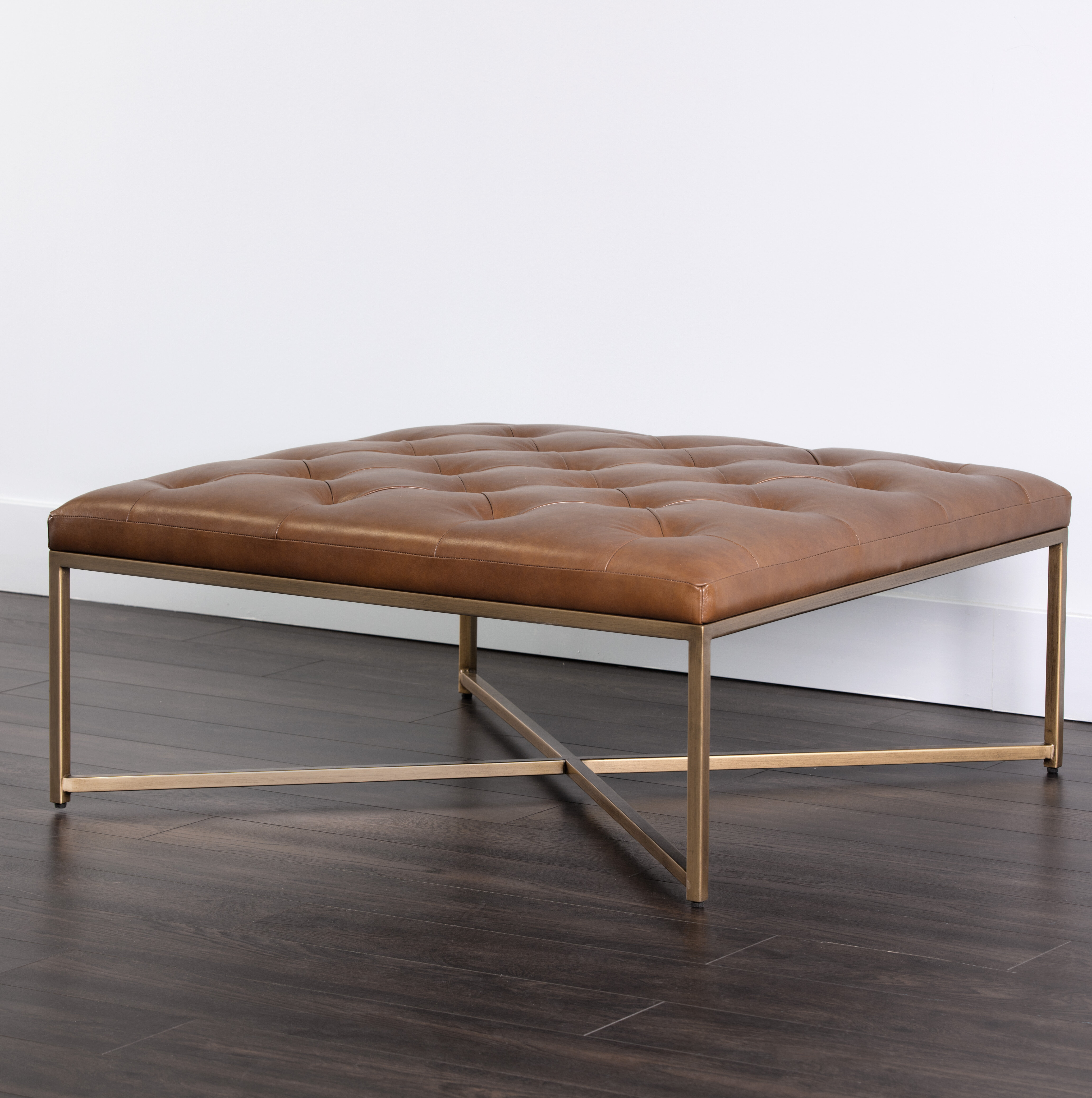 Wynonna Square Leather Tufted Cocktail Ottoman Reviews Joss Main