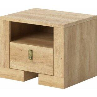 Nebraska 1 Drawer Bedside Table By Natur Pur