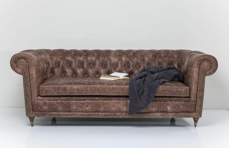 kare design 3 sitzer sofa oxford aus leder bewertungen. Black Bedroom Furniture Sets. Home Design Ideas