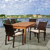 Fargo International Home Outdoor 7 Piece Dining Set with Cushions
