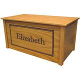 Netto Oak Toy Box With Shadow Bold Font by Harriet Bee