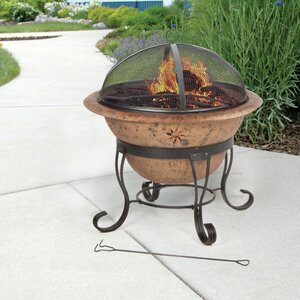 Soleil Steel Wood Burning Fire Pit