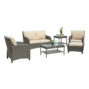 Gomer 6 Piece Rattan Sofa Seating Group With Cushions by Red Barrel Studio Sale