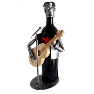 Guitar Player 1 Bottle Tabletop Wine Rack..