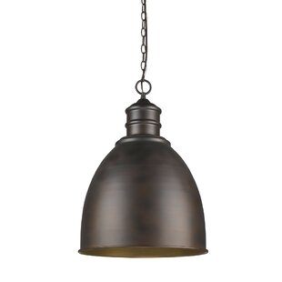 Williston Forge Coster 1-Light Bell Pendant