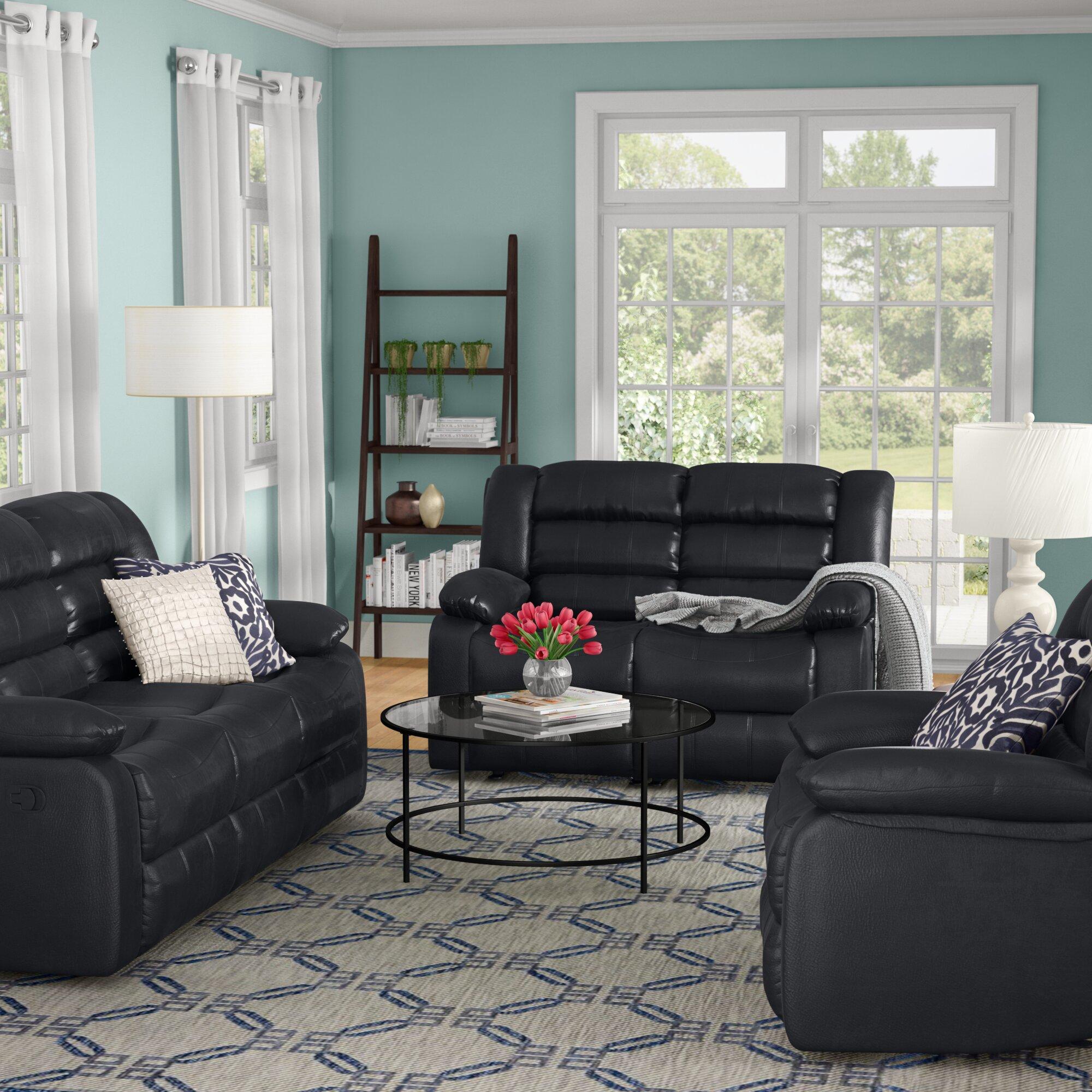 Red Barrel Studio Hamlin Reclining 3 Piece Living Room Set & Reviews ...