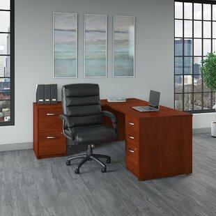 Series C Elite L-Shape Computer Desk and Chair Set by Bush Business Furniture