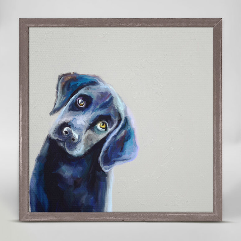 'Best Friend Curious Black Lab' Acrylic Painting Print