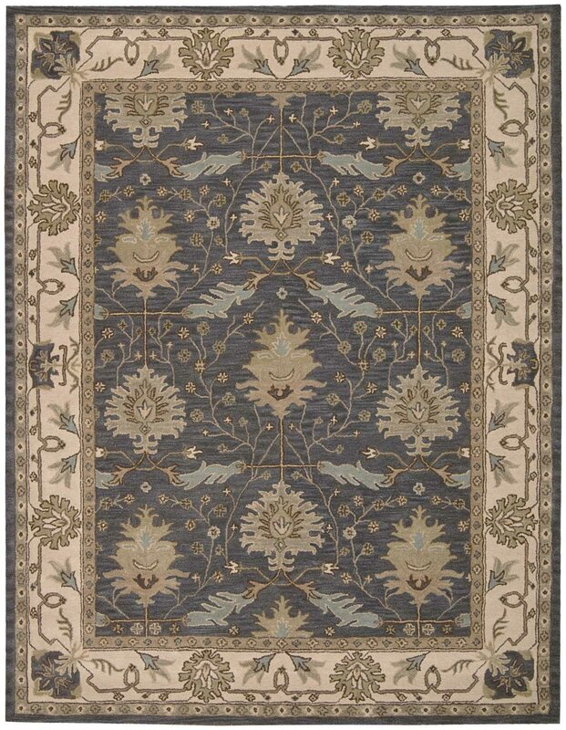 Constance Hand Tufted Blue Area Rug