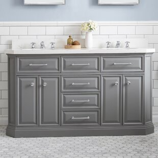 Oliphant Quartz 60 inch  Double Bathroom Vanity
