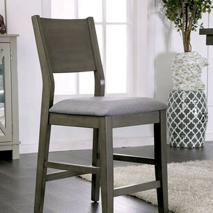 Gracie Oaks Reid Counter Height Upholstered Dining Chair (Set of 2)