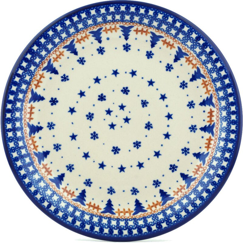 Winter Snow Polish Pottery Decorative Plate