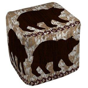 Wilderness Bear Ottoman by Manual Woodworker..