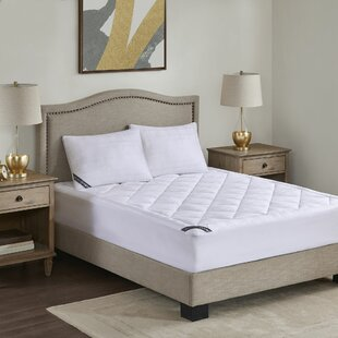 Ewan 525 Thread Count Rich Down Alternative Polyester Mattress Pad by Alwyn Home Today Sale Only