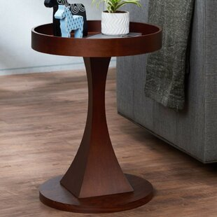 Forsman Contemporary Round Wooden End Table by Latitude Run
