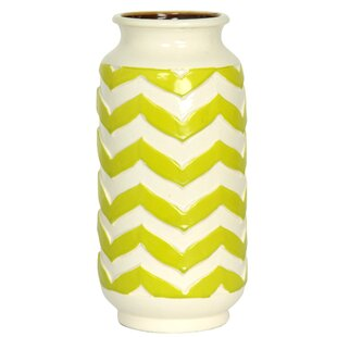 Price comparison Partington Chevron Ceramic Table Vase By Ebern Designs