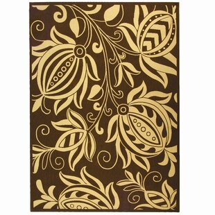 Laurel Chocolate/Yellow Indoor/Outdoor Area Rug