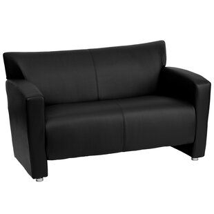 Gaige Leather Loveseat