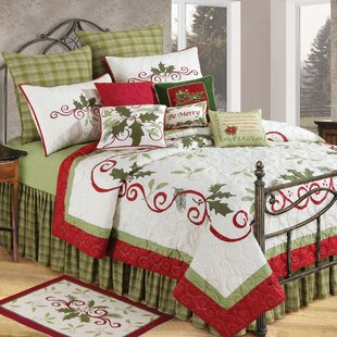 C&F Home Holiday Garland Cotton Quilt
