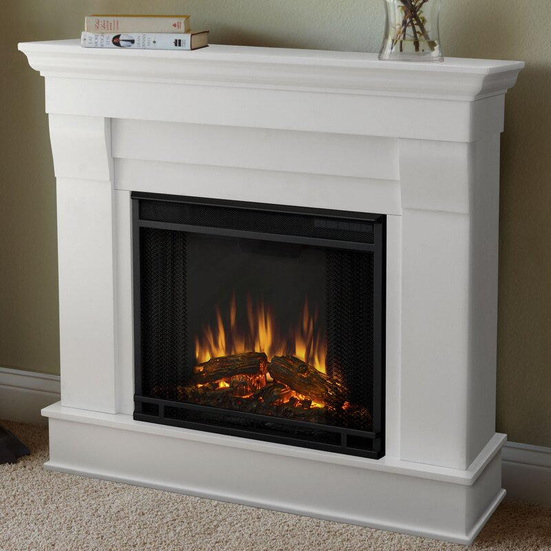 Real flame chateau electric fireplace reviews wayfair for Back to back indoor outdoor fireplace
