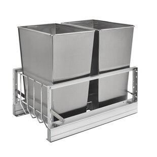 Rev-A-Shelf Double 8 Gallon Pull Out/Under Counter Trash Can
