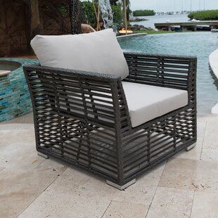Panama Jack Outdoor Patio Chair with Sunbrella Cushions