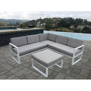 Wrobel 4 Piece Sectional Seating Group with Cushions