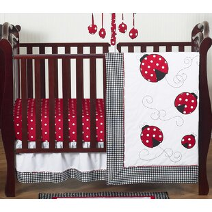 Read Reviews Ladybug 4 Piece Crib Bedding Set BySweet Jojo Designs