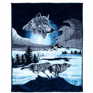 Mink Plush Wolf Blanket