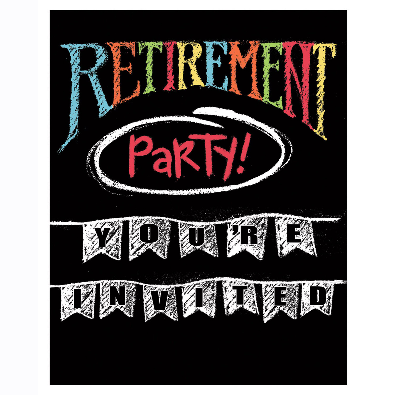 Creative Converting Retirement Chalk Invitations Wayfair
