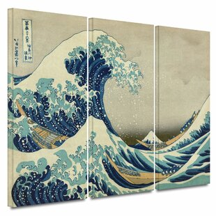 Fuji Great Wave Set of 4 Hokusai Mugs in Gift Box