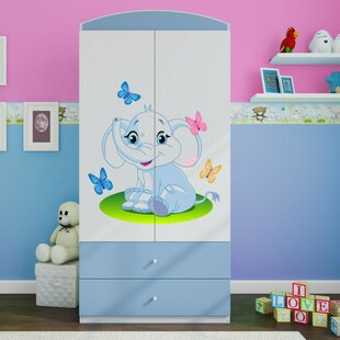 Caswell 2 Door Wardrobe by Zoomie Kids