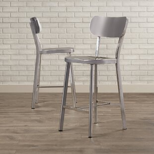 Brayden Studio Rizzuto Stainless Steel Dining Chair (Set of 2)