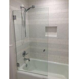 frameless shower bathtub doors you ll love wayfair