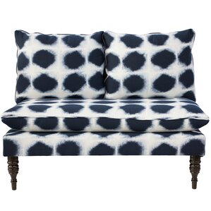 Chesterman Abels Armless Love Seat in Indo I..