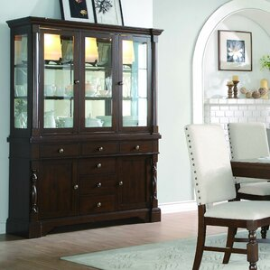 living room hutch. Brownville Buffet Lighted China Cabinet Distressed Finish Dining Hutches You ll Love  Wayfair
