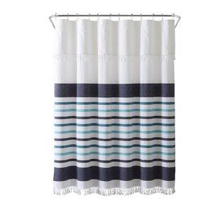 Dinwiddie Stripe Peshtemal 100 Cotton Shower Curtain