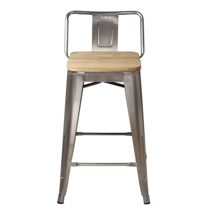 Mcraney Low Back 24 Bar Stool