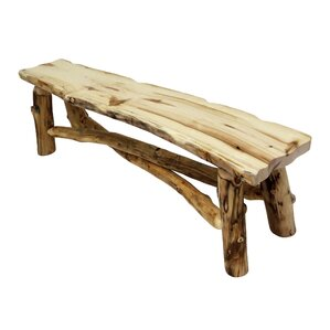 Aspen Grizzly Wood Bench by Mountain Wood..